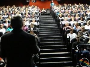 Auditório em São Miguel do Oeste-SC esteve lotado para o encontro